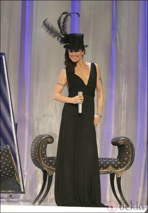 Melanie C. en un concierto de las Spice Girls vestida de Roberto Cavalli