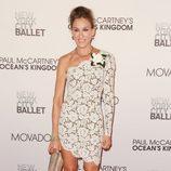 Sarah Jessica Parker con vestido de encaje de Stella McCartney