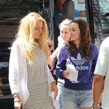 Blake Lively y Leighton Meester en un descanso de 'Gossip girl'