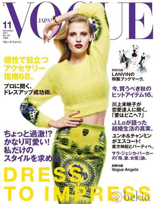 Lara Stone, portada de Vogue Japón en octubre de 2011