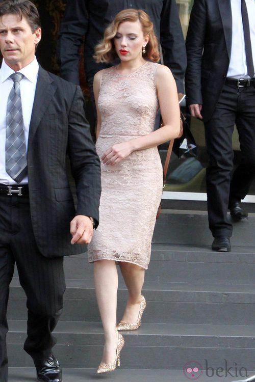 Scarlett Johansson de Dolce & Gabbana en Milán