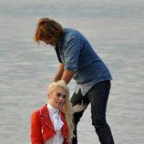 Lindsay Lohan durante la sesión de fotos para Philipp Plein