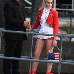 Sesión de fotos de Lindsay Lohan para Philipp Plein, colección primavera 2012