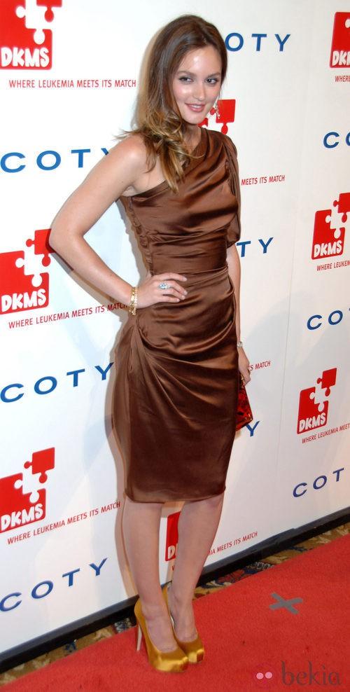Leighton Meester, de Vera Wang, en la gala DKMS 2011
