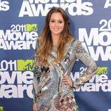 Leighton Meester con vestido joya de Balmain