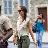 Leighton Meester en Nueva York con pantalones cargo