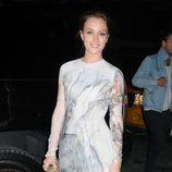 Uno de los looks de Leighton Meester en la Vogue Fashion's Night Out 2010