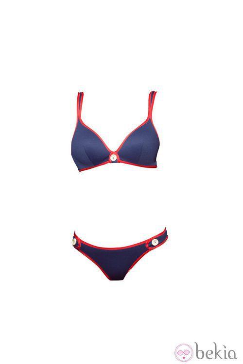 Bikini azul marino de la colección 'Ipanema' de Andrés Sardá para el verano 2015