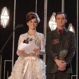 Penélope Cruz con un vestido blanco de Chanel en los Premios Goya 2003