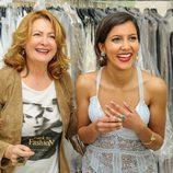 Mariam Bachir confía en la diseñadora Charo Ruiz para sus alfombras rojas