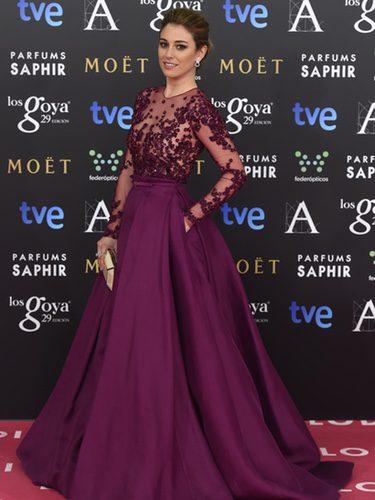 Blanca Suárez con un vestido de Zuhair Murad en la alfombra roja de los Premios Goya 2015