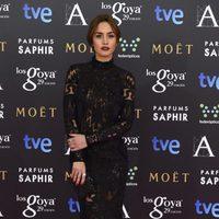 Megan Montaner con un vestido de Emilio Pucci en la alfombra roja de los Premios Goya 2015