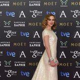 Marta Hazas con un vestido de Jorge Vázquez en la alfombra roja de los Premios Goya 2015