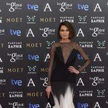 Nieves Álvarez con un vestido de Stephane Rolland Haute Couture en la alfombra roja de los Premios Goya 2015
