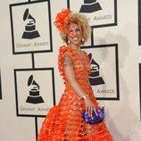 Joy Villa con un vestido completamente transparente en la alfombra roja de los Grammy 2015