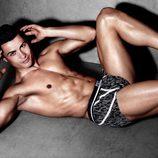 Cristiano Ronaldo con unos boxers en blanco y negro de su colección CR7 Underwear primavera/verano 2015