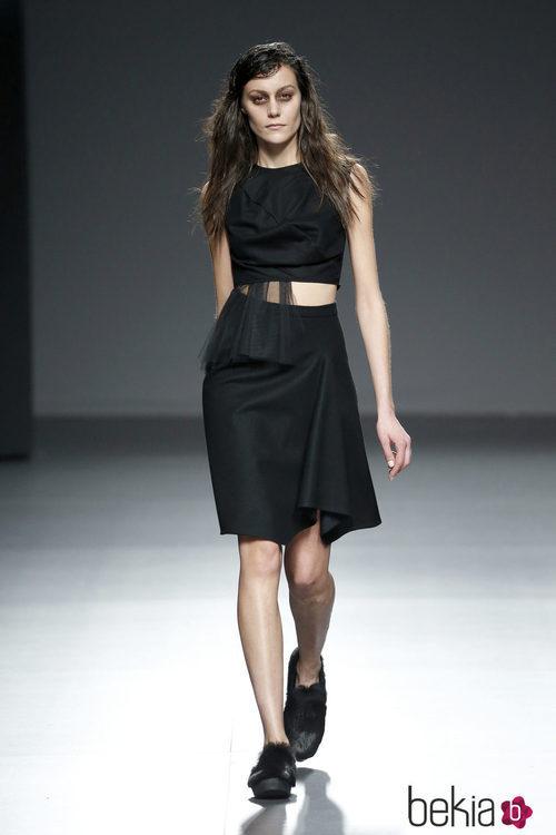 Vestido negro de Pepa Salazar en el Samsung EGO 2015