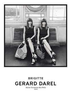 Brigitte, como almas gemelas en la campaña primavera/verano 2015 de Gerard Darel