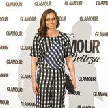 Melani Costa con un jumpsuit de cuadros