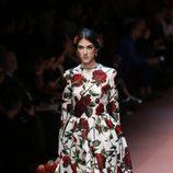 Vestido de flores de corte lady de Dolce & Gabbana en la Milán Fashion Week