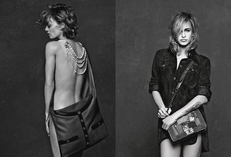 Vanessa Paradis posando para Chanel en su campaña '3 Chicas, 3 Bolsos'