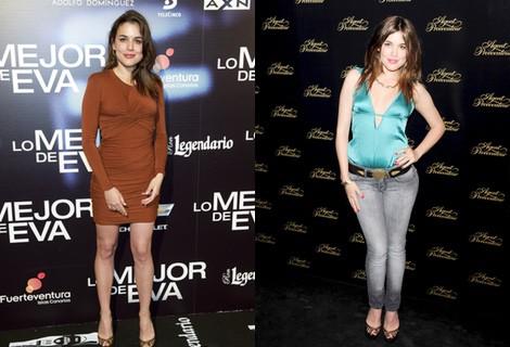 Adriana Ugarte con un vestido marrón en el estreno de 'Lo mejor de Eva'