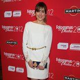Adriana Ugarte con un vestido blanco en los premios Fotogramas de Plata 2012