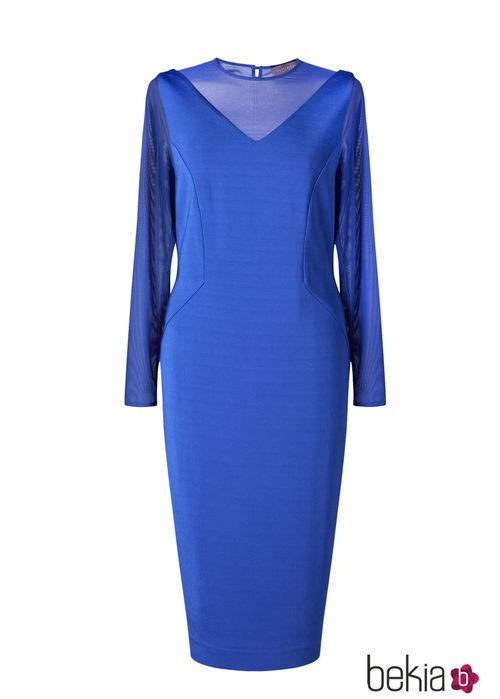 Vestido azul klein de la colección 'V in V' de Vicky Martín Berrocal