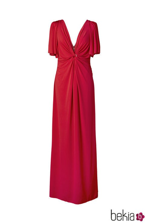 Vestido rojo de la colección 'V in V' de Vicky Martín Berrocal