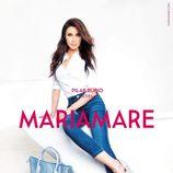 Pilar Rubio con cuñas gris plata de tacón de la colección primavera/verano 2015 de Maria Mare
