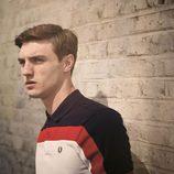 Polo negro, rojo y blanco de la colección primavera/verano 2015 Men's Authentic Collection de Fred Perry