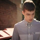 Camisa de cuadros gris de la colección primavera/verano 2015 Men's Authentic Collection de Fred Perry