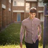 Camisa de cuadros de color marsala de la colección primavera/verano 2015 Men's Authentic Collection de Fred Perry