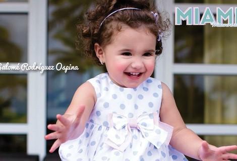 Salomé Rodríguez Ospina, imagen de la firma infantil EPK Colombia