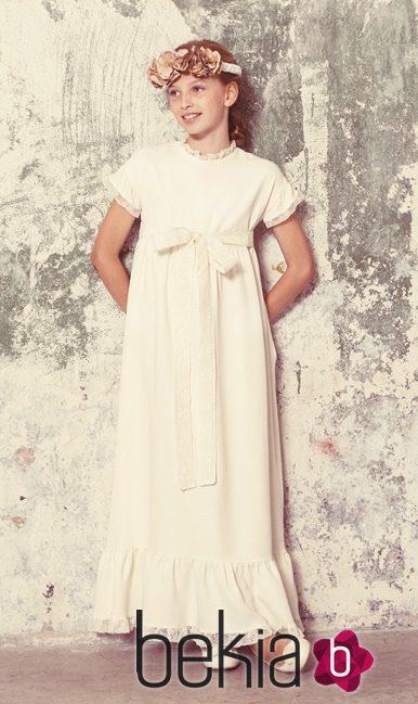 Vestido largo de comunión de la colección 'Ceremonia' de Bonnet à Pompom
