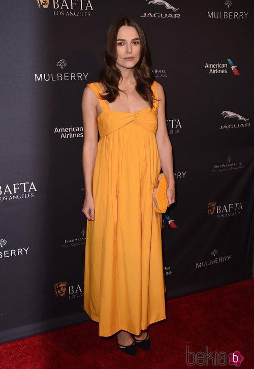 Keira Knightley con un vestido de Hermés