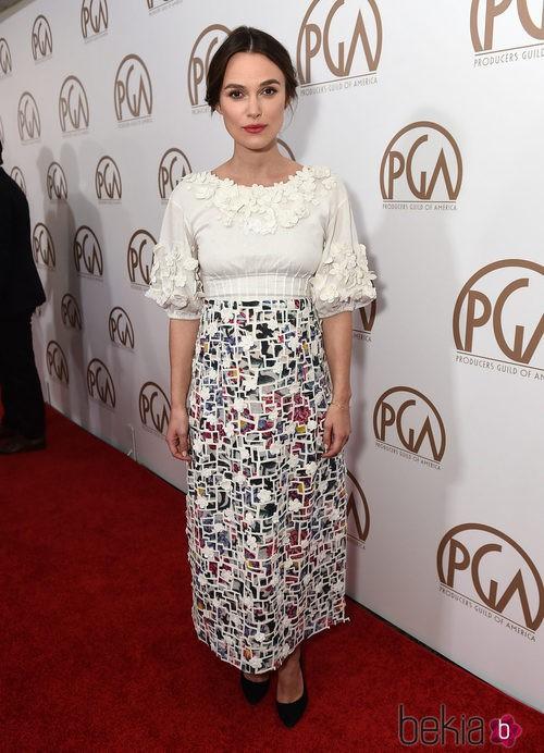 Keira Knightley vestida para los Annual Producer Guild Awards
