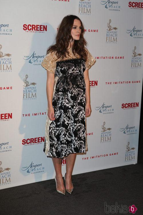 Keira Knightley con un vestido de MIchael Van de Ham