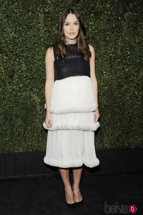 Keira Knightley con un vestido de Chanel