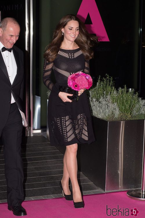 Kate Middleton con vestido de Temperly London
