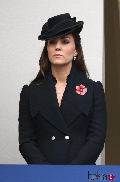 Kate Middleton con abrigo de Alexander McQueen
