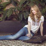 Patricia Conde posando para Dándara con su colección primavera/verano 2015