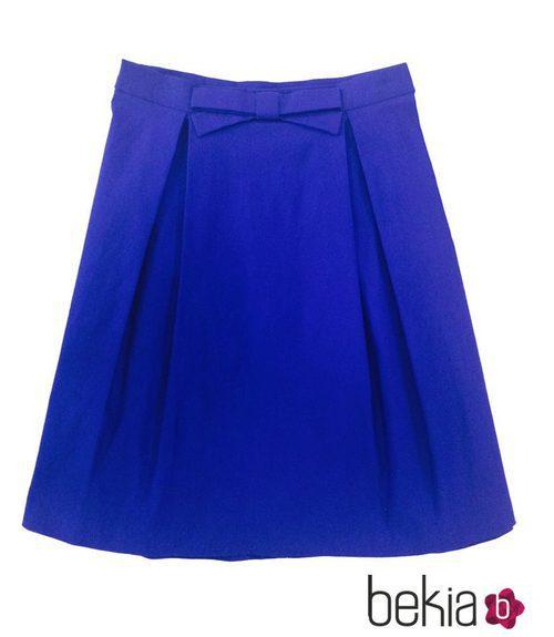 Falda azul con lazo de la colección primavera/verano 2015 de Barbarella
