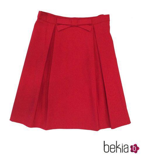 Falza roja con lazo de la colección primavera/verano 2015 de Barbarella
