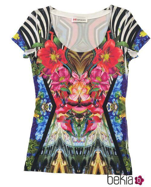 Camiseta de manga corta estampada de la colección primavera/verano 2015 de Barbarella