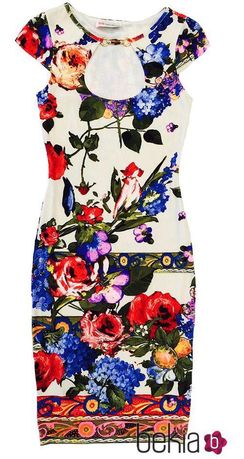 Vestido con estampado floral de la colección primavera/verano 2015 de Barbarella