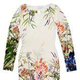 Vestido de manga larga estampado de la colección primavera/verano 2015 de Barbarella