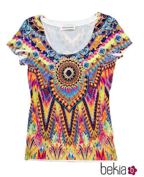 Camiseta colorida de manga corta de la colección primavera/verano 2015 de Barbarella
