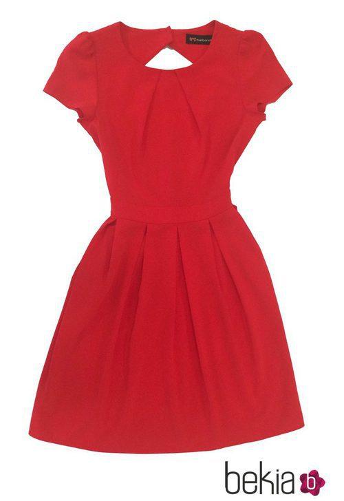 Vestido rojo de la colección primavera/verano 2015 de Barbarella