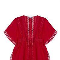 Kaftan en color rojo de la colección primaveral de Charo Ruiz